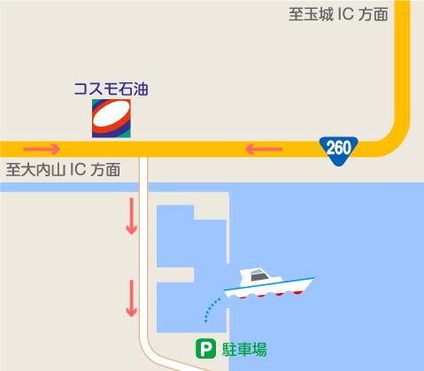 神前浦,地図,六〇渡船,シ-ドリ-ム